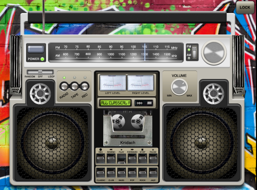 Retro Boombox Music Player App For Ipad Home